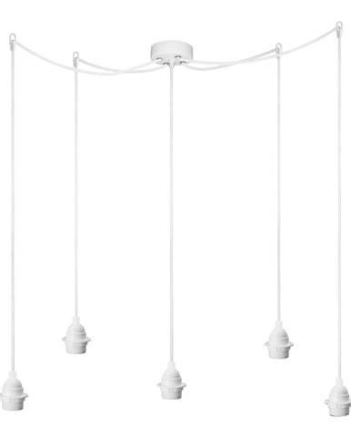 Biele päťramenné závesné svietidlo Bulb Attack Uno Primary