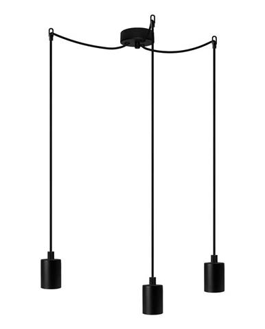 Čierne trojramenné závesné svietidlo Bulb Attack Cero Basic