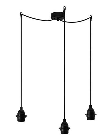 Čierne trojramenné závesné svietidlo Bulb Attack Uno Primary