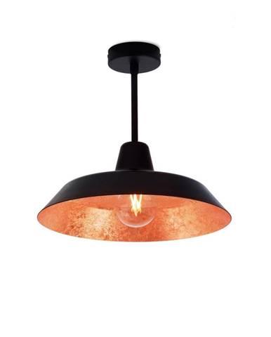 Stropné svietidlo v čiernej a medenej farbe Bulb Attack Cinco Basic