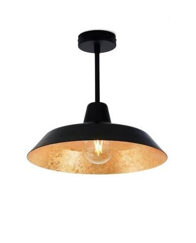 Stropné svietidlo v čiernej a zlatej farbe Bulb Attack Cinco Basic