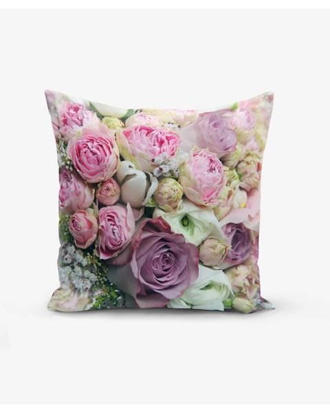 Minimalist Cushion Covers Obliečky na vankúš s prímesou bavlny Minimalist Cushion Covers Roses, 45×45cm