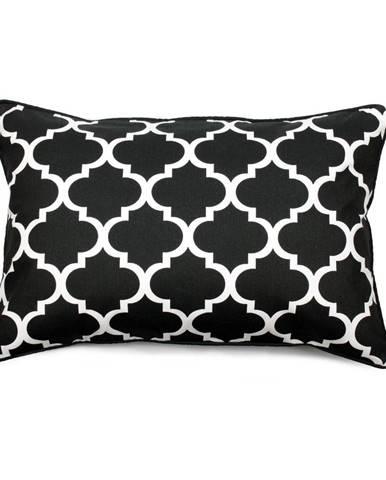 Čierno-biela obliečka na vankúš WeLoveBeds Clover, 40 × 60cm
