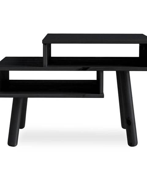 Karup Design Konferenčný stolík z borovicového dreva v čiernej farbe Karup Design Haku