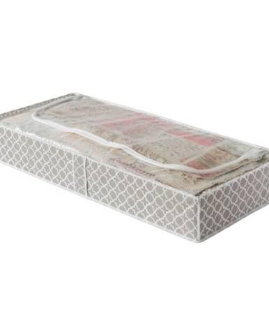 Béžový úložný box pod posteľ Compactor, dĺžka 107 cm