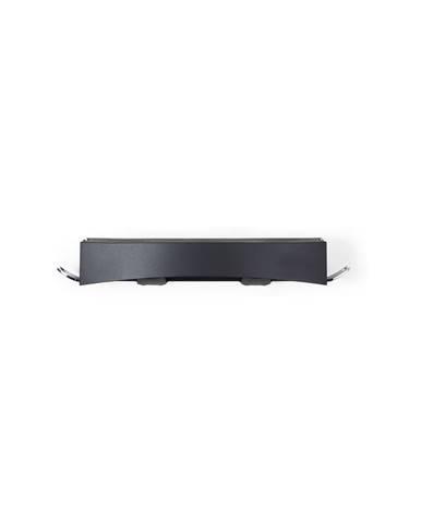 Čierna nástenná samodržiaca polička Compactor Clever Flip Shower Shelf