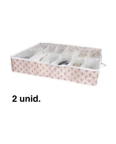Organizér na topánky pod posteľ Compactor Blush Range, 76 x 60 cm