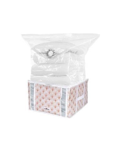 Ružový vakuový úložný box na oblečenie Compactor Signature Blush 3D Vacuum Bag, 125 l