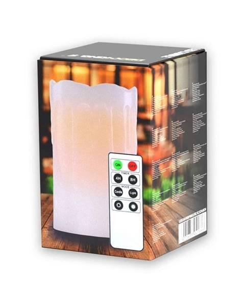 DecoKing LED sviečka s diaľkovým ovládačom DecoKing Drip, výška 12,5 cm