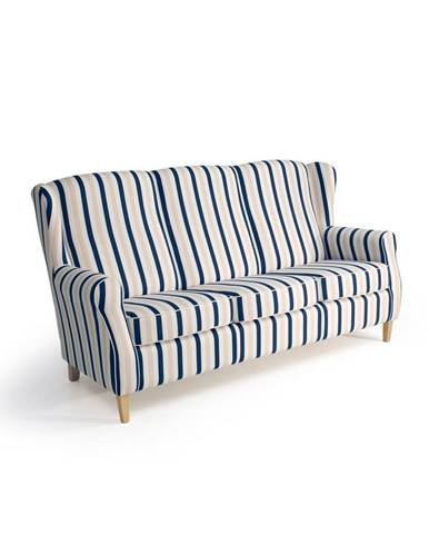 Modro-biela pruhovaná pohovka Max Winzer Lorris,193 cm