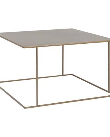 Konferenčný stolík v zlatej farbe Custom Form Walt, 80 × 80 cm