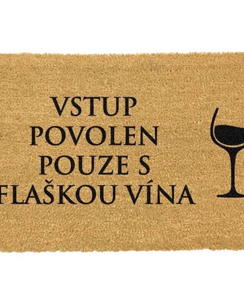 Artsy Doormats Rohožka z prírodného kokosového vlákna Artsy Doormats Flaška Vína, 40 x 60 cm