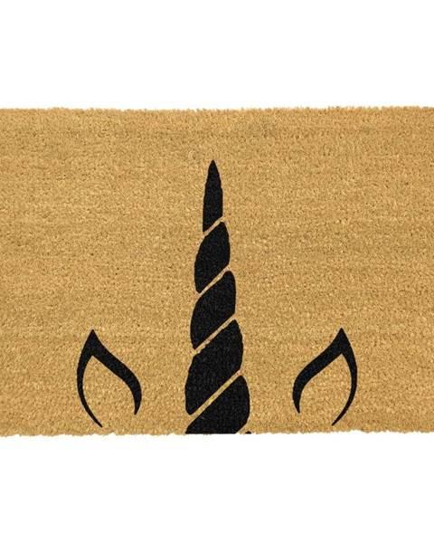 Artsy Doormats Rohožka z prírodného kokosového vlákna Artsy Doormats Unicorn Horn, 40 x 60 cm