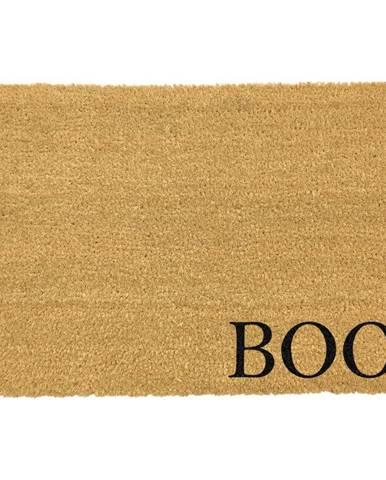 Čierna rohožka z prírodného kokosového vlákna Artsy Doormats Boo, 40 x 60 cm