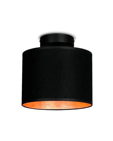 Čierne stropné svietidlo s detailom v medenej farbe Sotto Luce Mika Elementary XS CP, ⌀ 20 cm