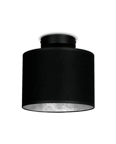 Čierne stropné svietidlo s detailom v striebornej farbe Sotto Luce MIKA Elementary XS CP, ⌀ 20 cm