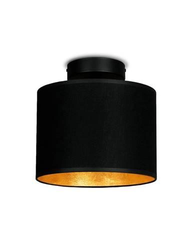 Čierne stropné svietidlo s detailom v zlatej farbe Sotto Luce Mika Elementary XS CP, ⌀ 20 cm