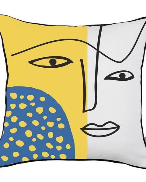 Apolena Obliečka na vankúš Mike&Co.NEWYORK Abstract Face, 43 × 43 cm