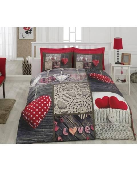 Cotton Box Bavlnené obliečky s plachtou na dvojlôžko Nina Der, 200 × 220 cm