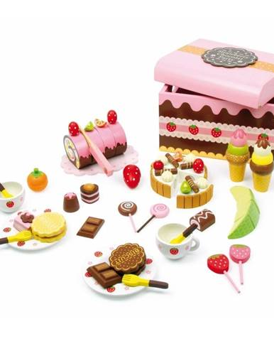 Drevený box plný sladkostí na hranie Legler Sweeties