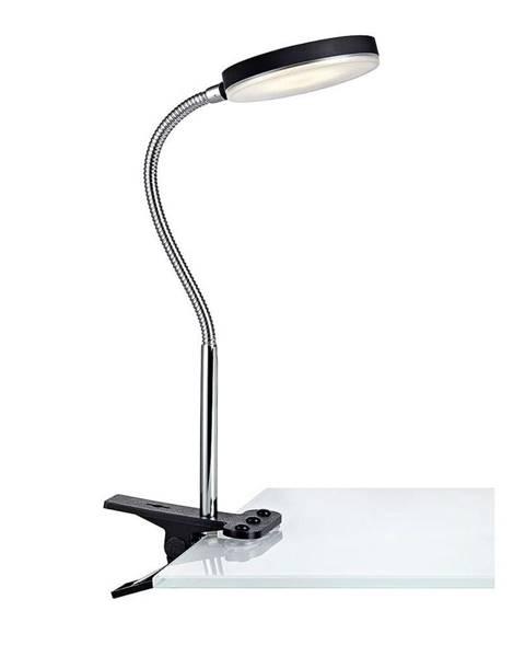 Markslöjd Čierna stolová LED lampa so štipcom Markslöjd Flex