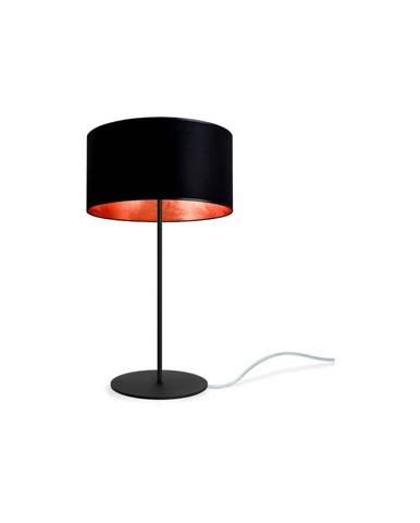 Čierno-medená stolová lampa Sotto Luce MIKA M 1T