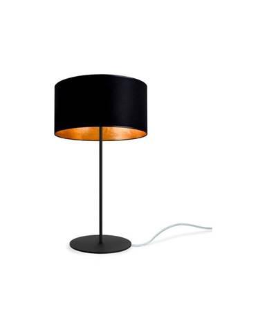 Čierno-zlatá stolová lampa Sotto Luce MIKA M 1T