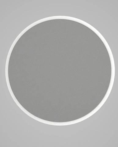 Guľaté nástenné zrkadlo v bílémém ráme Glob, ⌀ 59 cm