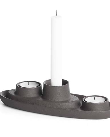 Tmavosivý svietnik EMKO Aye Aye Three Candles