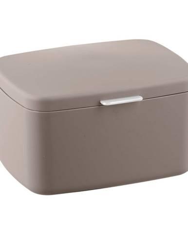 Hnedobéžový kúpeľňový úložný box Wenko Barcelona