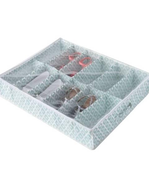 Compactor Zelený úložný box na topánky pod posteľ Compactor, dĺžka76cm
