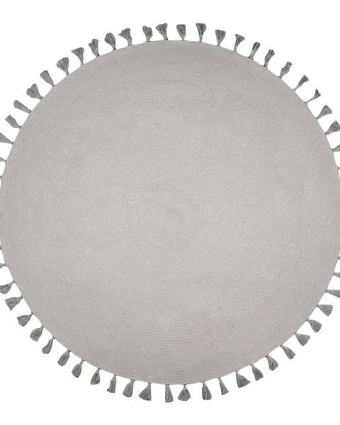 Nattiot Sivý ručne tkaný koberec Nattiot Josephine, ∅140cm