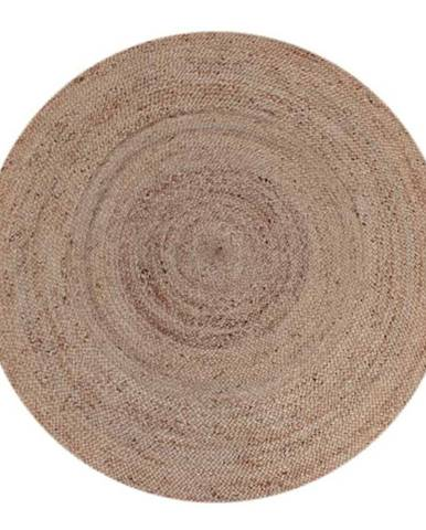 Koberec z konopného vlákna LABEL51 Natural Rug,⌀ 180cm