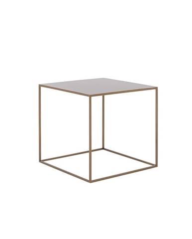 Konferenčný kovový stolík v zlatej farbe Custom Form Tensio, 50 x 50 cm