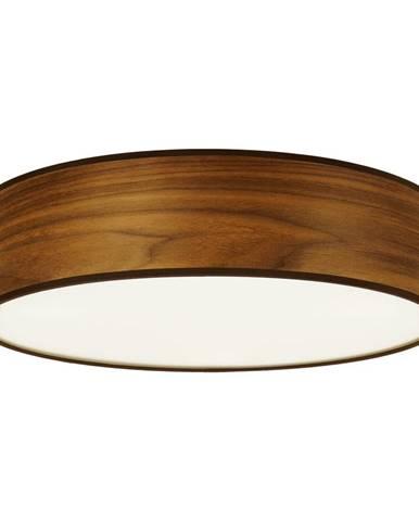 Stropné svietidlo z prírodnej dyhy vo farbe orechového dreva Sotto Luce TSURI, Ø 40 cm