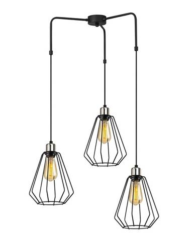 Čierne kovové závesné svietidlo Opviq lights Mathaios