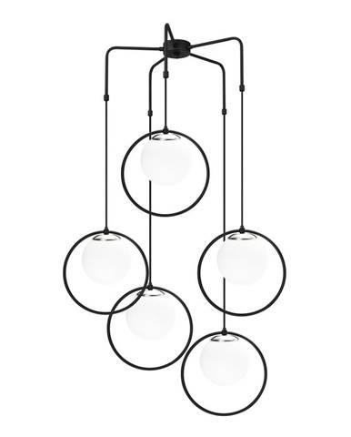 Čierne kovové závesné svietidlo Opviq lights Satyros