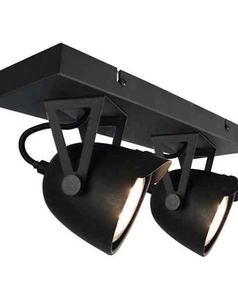 LABEL51 Čierne nástenné svietidlo LABEL51 Spot Moto Cap Dos