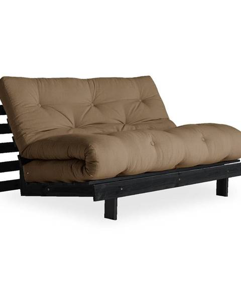Karup Design Rozkladacia pohovka s hnedým poťahom Karup Design Roots Black/Mocca