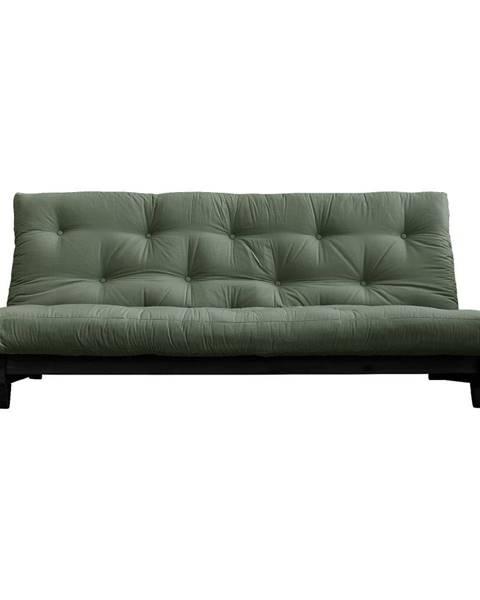 Karup Design Variabilná pohovka Karup Design Fresh Black/Olive Green