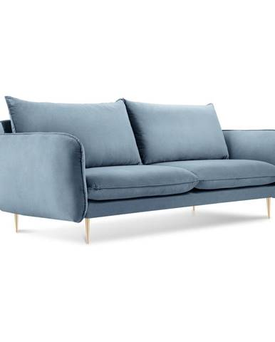 Bledomodrá zamatová pohovka Cosmopolitan Design Florence,160 cm