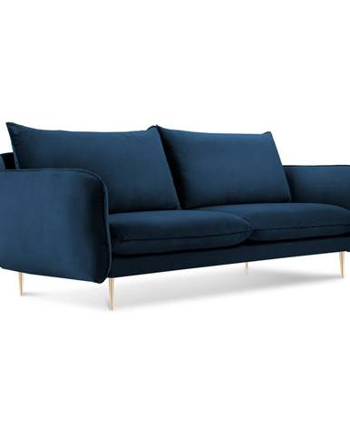 Modrá zamatová pohovka Cosmopolitan Design Florence,160 cm