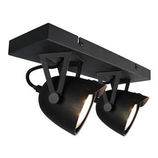 Čierne nástenné svietidlo LABEL51 Spot Moto Cap Dos