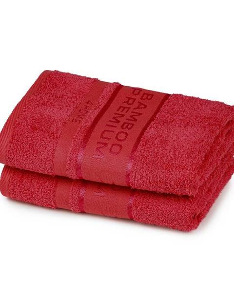 4Home 4Home Bamboo Premium uterák červená, 50 x 100 cm, sada 2 ks