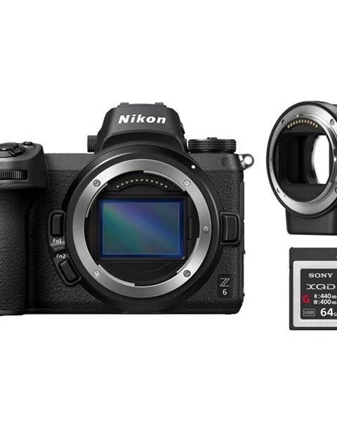 Nikon Digitálny fotoaparát Nikon Z6 + adaptér bajonetu FTZ + 64 GB XQD