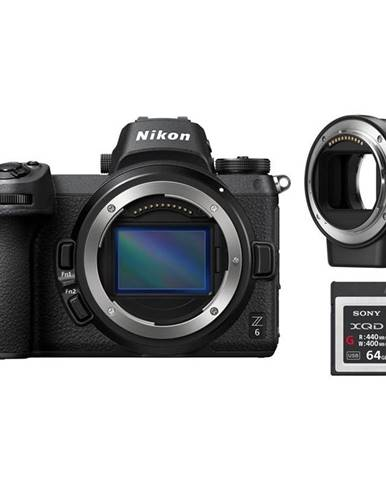 Digitálny fotoaparát Nikon Z6 + adaptér bajonetu FTZ + 64 GB XQD
