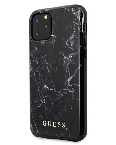 Kryt na mobil Guess Marble Design na iPhone 11 Pro Max čierny