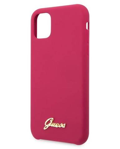 Kryt na mobil Guess Silicone Vintage na iPhone 11 ružový