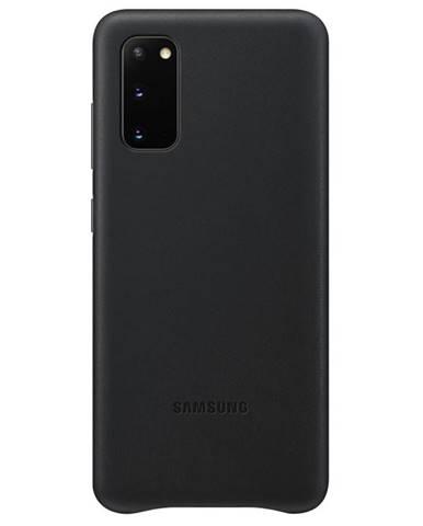 Kryt na mobil Samsung Leather Cover na Galaxy S20 čierny