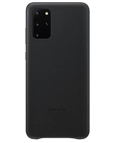 Kryt na mobil Samsung Leather Cover na Galaxy S20+ čierny